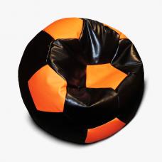 Кресло-мяч черно-оранжевое