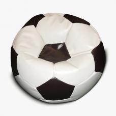 Кресло-мяч бело - коричневое