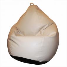 Кресло-мешок «Груша» бежево-черная