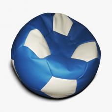 Кресло-мяч сине - белое