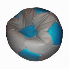 Кресло-мяч серо-голубой