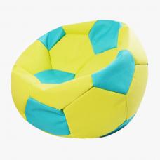 Кресло-мяч салатово-голубой