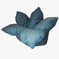 Кресло-цветок «Вельвет-голубой»