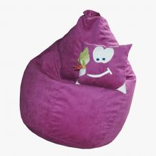Кресло-груша «Сахара-малина»