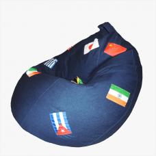 Кресло-груша «Джинс-герб»
