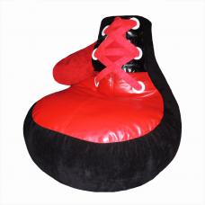 Детское бескорпусное кресло «Боксерская перчатка» черная