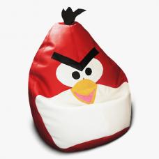 Детское мягкое кресло-игрушка «Angry Birds» красное