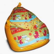 Бескаркасное кресло-мешок для детей «Груша» (M)