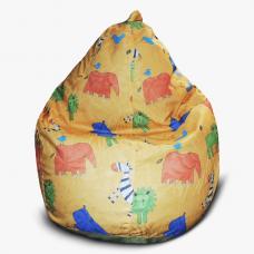 Бескорпусное детское кресло-груша «Слоники» (M)