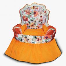 Бескаркасные кресло-трон для детей «Цветы»