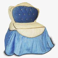 Бескаркасные кресло-трон для детей «Василек»