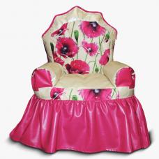 Бескаркасные кресло-трон для детей «Маки»