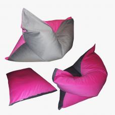 Напольная подушка Розово-серая