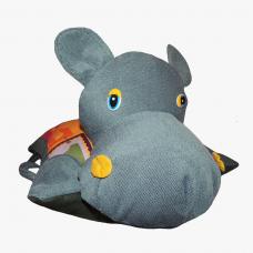 Подушка-игрушка «Бегемот-Буква»