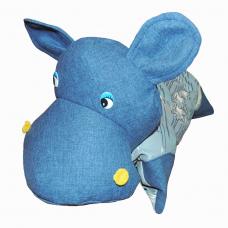 Подушка-игрушка «Бегемотик-Синяк»