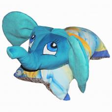 Подушка-игрушка «Слон-голубой»
