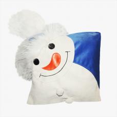 Декоративная подушка «Снеговик-голубой»